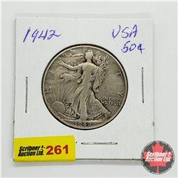 USA Half Dollar 1942