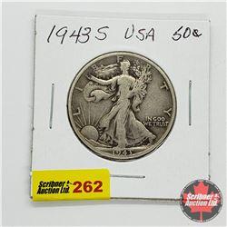 USA Half Dollar 1943S