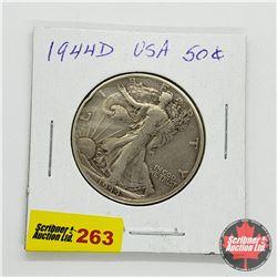 USA Half Dollar 1944D