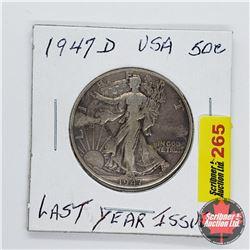 USA Half Dollar 1947D