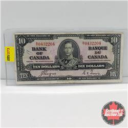 Canada $10 Bill 1937 : Coyne/Towers S/N#BT0432204