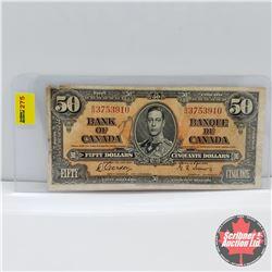Canada $50 Bill 1937 : Gordon/Towers S/N#BH3753910