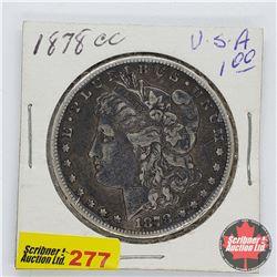 USA Morgan Dollar 1878CC