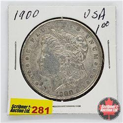 USA Morgan Dollar 1900
