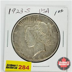 USA Peace Dollar 1923S
