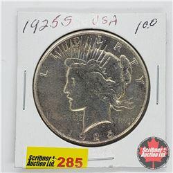 USA Peace Dollar 1925S