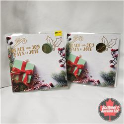 """(2) Canada Year Sets """"Peace and Joy"""" Holiday Carded 2018"""