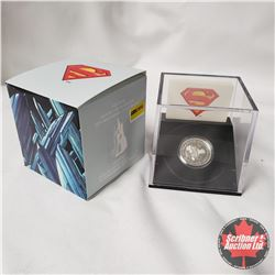 """RCM 2013 $10 Fine Silver Coin """"75th Anniversary of Superman"""" """"Vintage"""""""