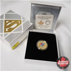 "RCM 2015 $100 14-Karat Gold Coin ""Iconic Superman Comic Book Covers: Superman #4 (1940)"""