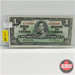 Canada $1 Bill 1937 : Gordon/Towers S/N#JM2133489