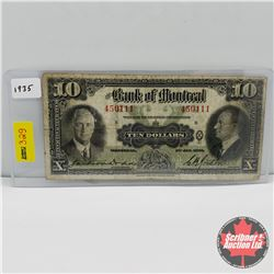 The Bank of Montreal $10 Bill 1935 : S/N#450111 B
