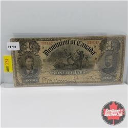 Dominion Bank of Canada $1 Bill 1898 : S/N#331147 D