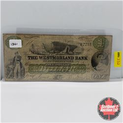 The Westmorland Bank $1 Bill 1861 : S/N#12231