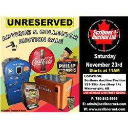 SATURDAY NOVEMBER 23, 2019 - PRIVATE ANTIQUE COLLECTION !