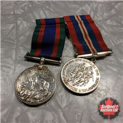 2 War Medals : Voluntary Service 1939-1945