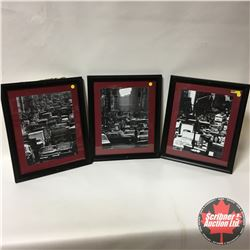 "3 Framed Photo Prints (New York Images) 16"" x 19"""