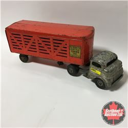Toy : Structo - Truck & Livestock Trailer