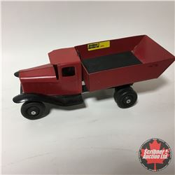 Toy: Vintage Metal Dump Truck - Wooden Wheels (Refurbished)
