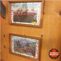 "Framed Frontiersman Prints (4) (15""Wx10""H)"