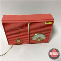 Philco Twin Speaker Retro Radio - Coral
