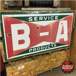 """Enamel Sign (66"""" x 36""""): B-A Bow Tie Service Products Sign"""