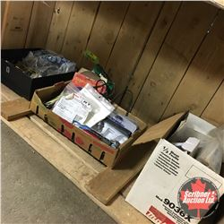 Cubby Lot - 3 Boxes Misc Tools/Hardware incl. Makita Finishing Sander