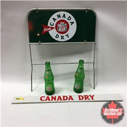 """Canada Dry Group: Grocery Shelf Sign (26""""x21""""), Bottle Store Display Rack """"Sign only"""" (16""""x20"""") & Bo"""