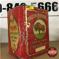 "The Paulin Chambers Co. Limited Satin Finish and Fine Hard Candy Tin (8"" x 7"" x 9"")"