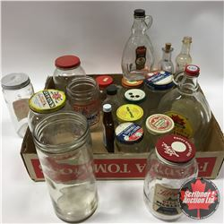 Tray Lot: Confectioner Jars (Variety)