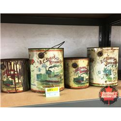 Rogers Syrup Tins (4): Old with Chimney Smoke