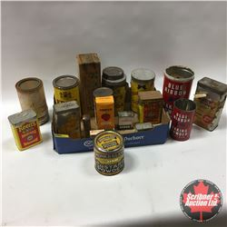Spice & Baking Theme: Tins/Boxes & Wooden Cheese Box