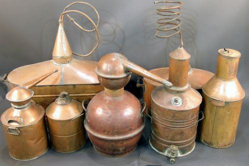 7 pices of copper Moonshine still components