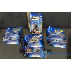 (7) NIB Star Wars Micro Machine Collectibles & (1) Figurine