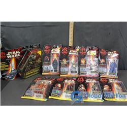 (8) NIB Star Wars Collectible Figures