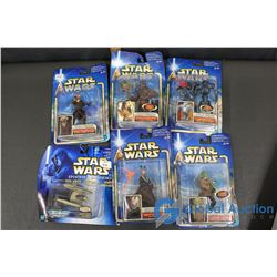(6) NIB Star Wars Collectible Figures
