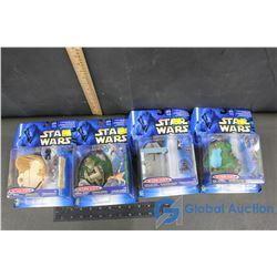 (4) NIB Star Wars Mini Scene Collectibles