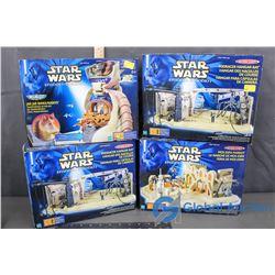 (4) NIB Star Wars Action Sets