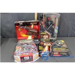 (4) NIB Star Wars Collectibles