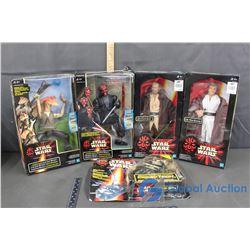 (2) NIB Star Wars Action Collection Figures; (2) Star Wars Electronic Talking Figures (BID PRICE TIM