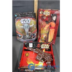 NIB Star Wars Queen Amidala & (2) Star Wars Collectibles