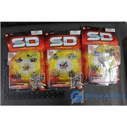 (3) NIB Superior Defender Gundam Fight Sets - Sets 1, 2 & 3