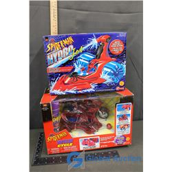 NIB Spider-Man Web Cycle & Spider-Man Hydro Jet (BID PRICE TIMES 2)