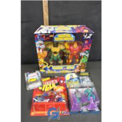 (3) NIB Assorted Superheros