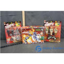 (2) NIB The Corps Max Power Sets & NIB Small Soldiers Toy