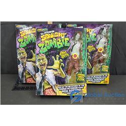 (3) NIB Squishy Zombie Smart Lab Toys