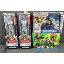 NIB Ultron Avengers Toys (2), Xyber 9 Toy & Jurassic Park Toy