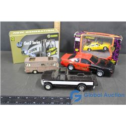 Assorted Toy Trucks & Vintage Toys