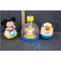 (3) Vintage Infant Noise Making Toys