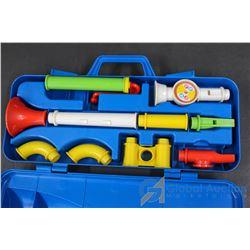 Vintage Fisher-Price Toy Trumpet w/ Case