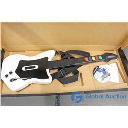 Guitar Hero Guitar & PS2 Tiger Woods '07 Game